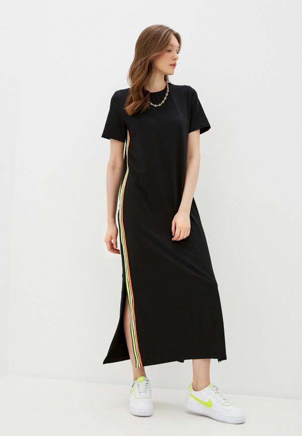 женское платье-футболки winzor, черное