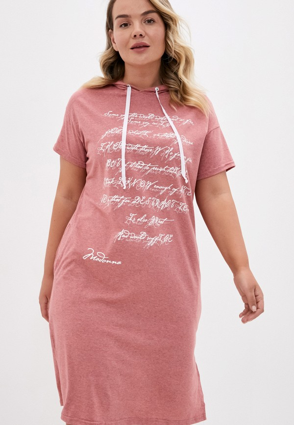 женское платье-футболки winzor, розовое