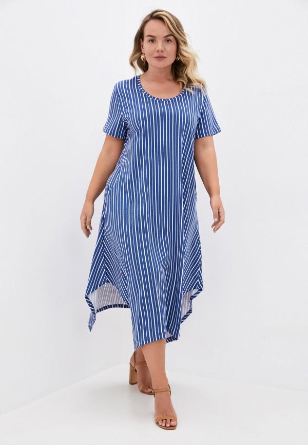 женское повседневные платье winzor, синее