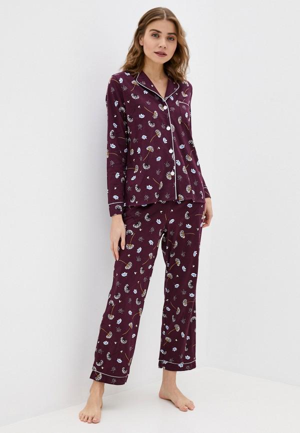 женская пижама winzor, бордовая