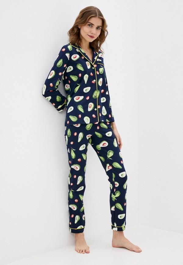 женская пижама winzor, синяя