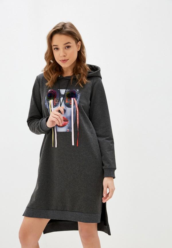 женское платье winzor, серое