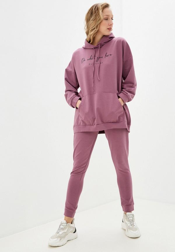 женский спортивный костюм winzor, розовый