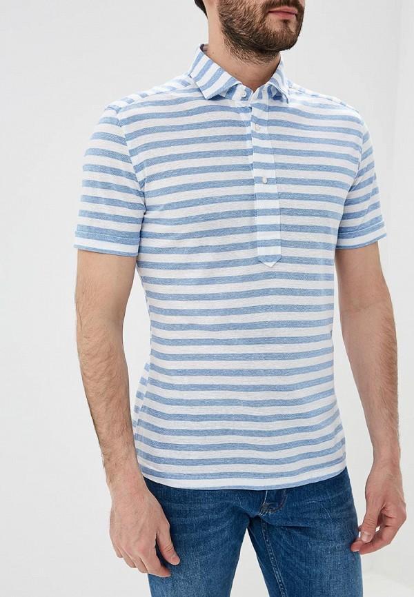 мужское поло windsor, голубое