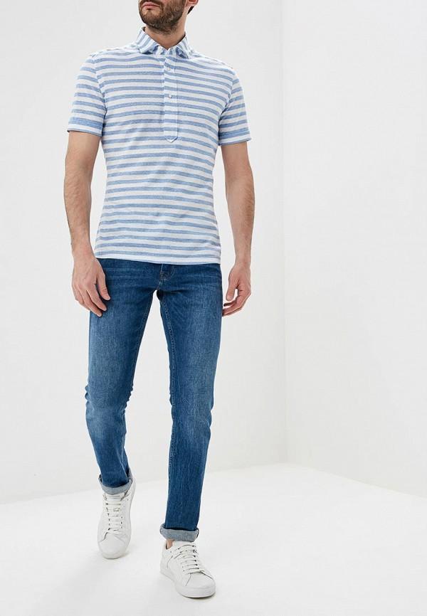 Фото 2 - мужское поло Windsor голубого цвета