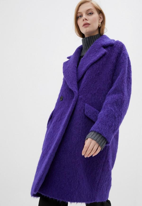 женское пальто windsor, фиолетовое