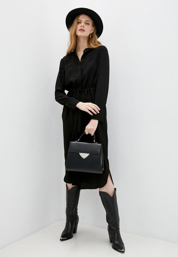 женское повседневные платье windsor, черное