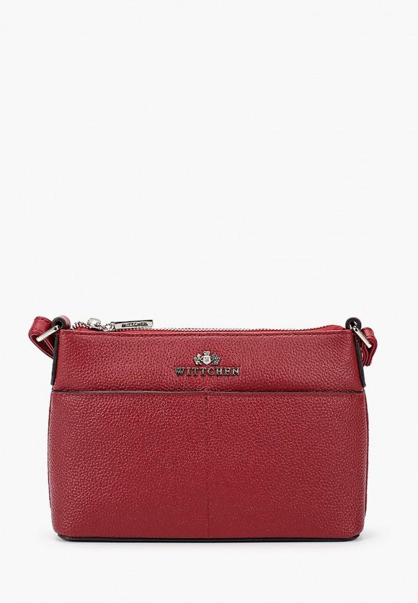 женская сумка wittchen, красная