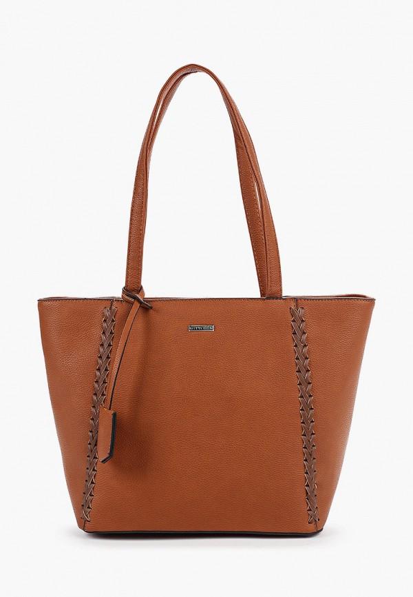 женская сумка wittchen, коричневая