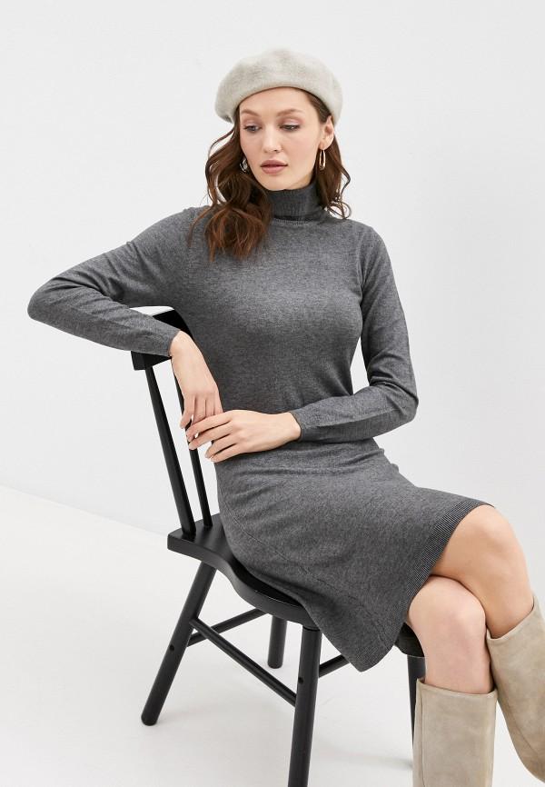 женское платье william de faye, серое