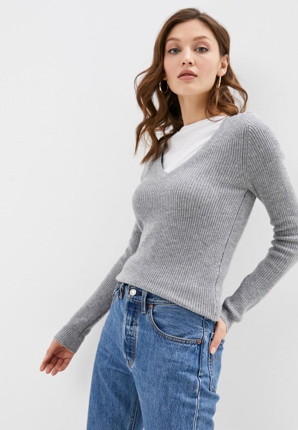 женский пуловер william de faye, серый