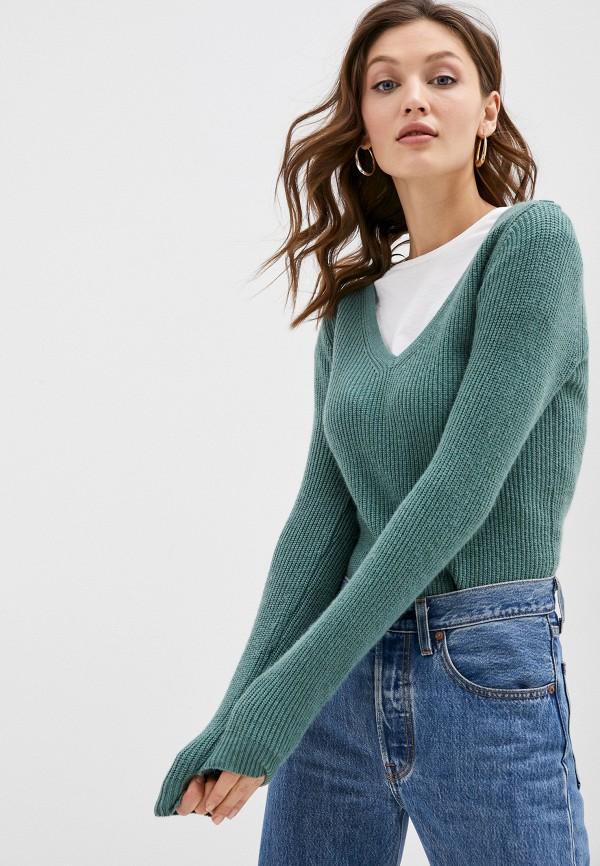 женский пуловер william de faye, зеленый