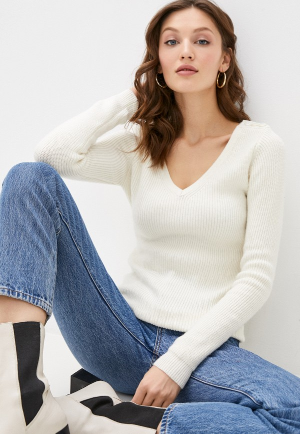 женский пуловер william de faye, бежевый