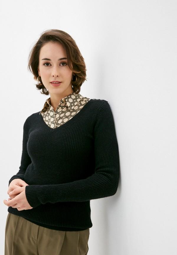 женский пуловер william de faye, черный