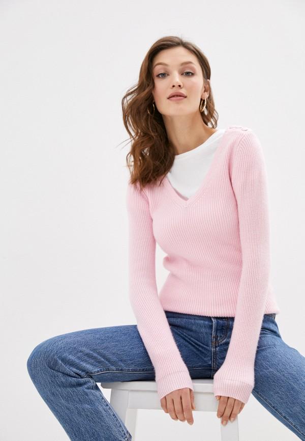 женский пуловер william de faye, розовый