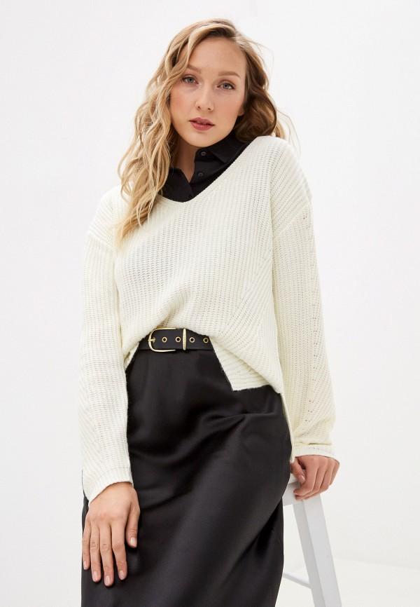 женский пуловер william de faye, белый