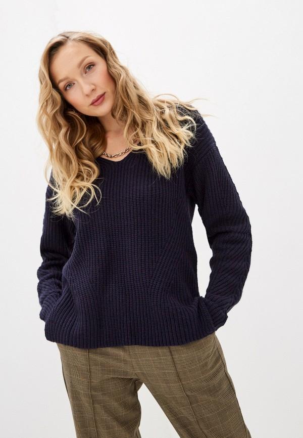 женский пуловер william de faye, синий