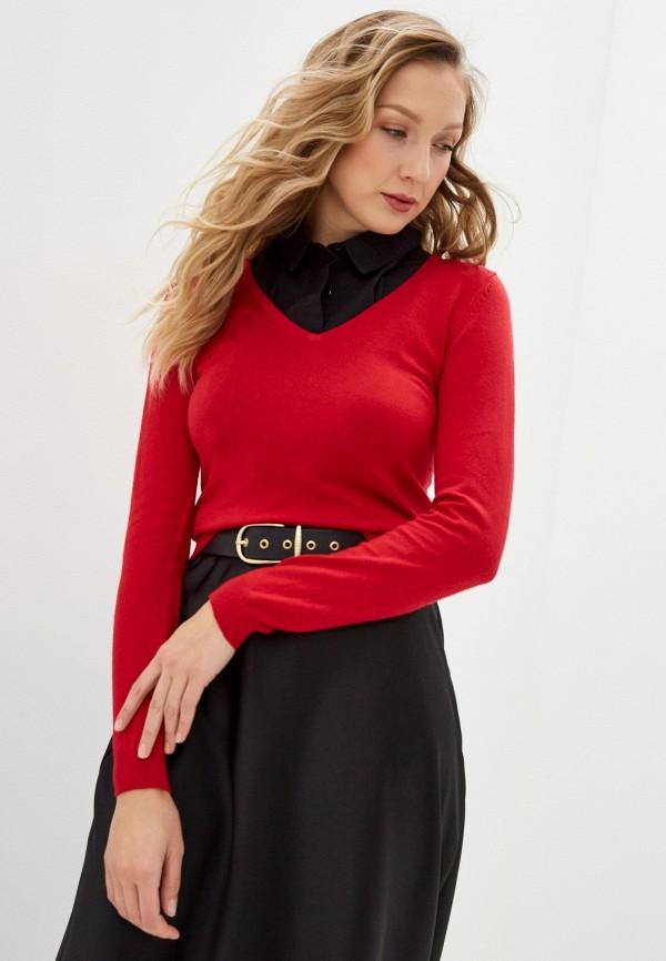 женский пуловер william de faye, красный