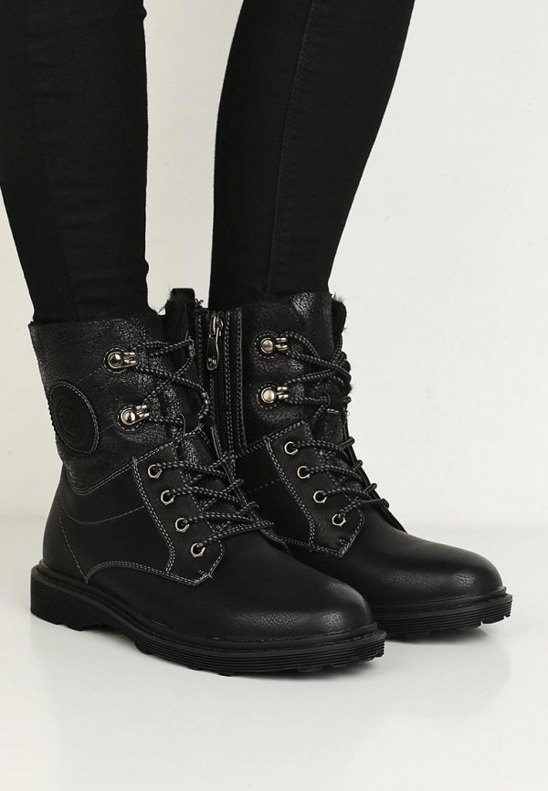 Фото 15 - женские ботинки и полуботинки Wilmar черного цвета