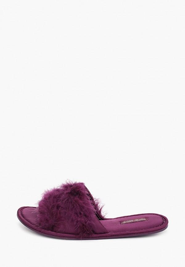 женские тапочки women'secret, фиолетовые