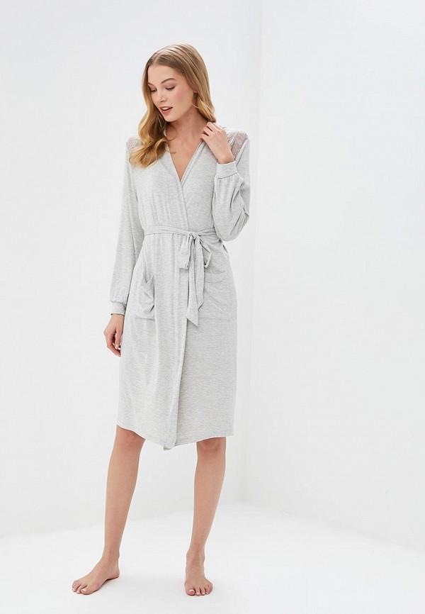 женский халат women'secret, серый
