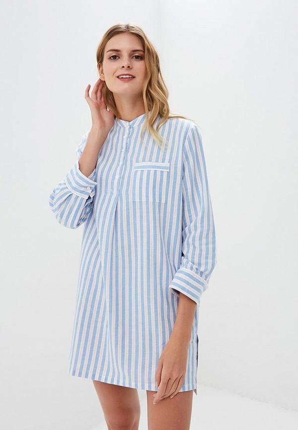 женские сорочка ночная women'secret, голубые