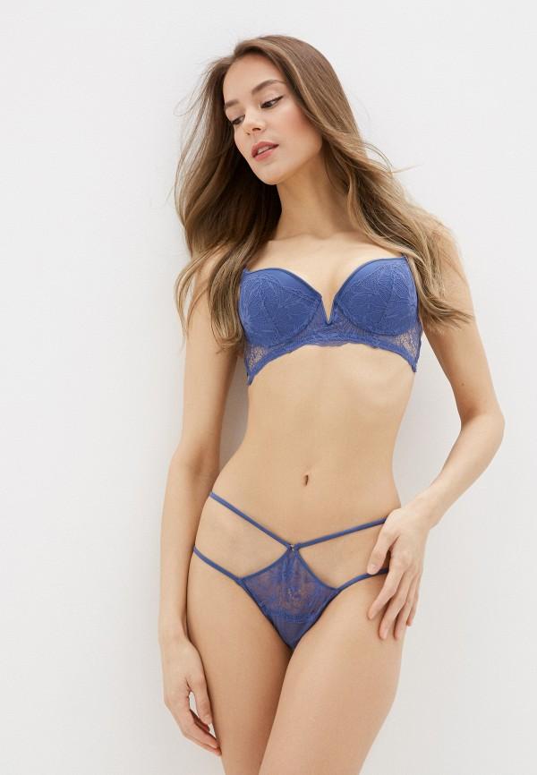 женские трусы-стринги women'secret, синие