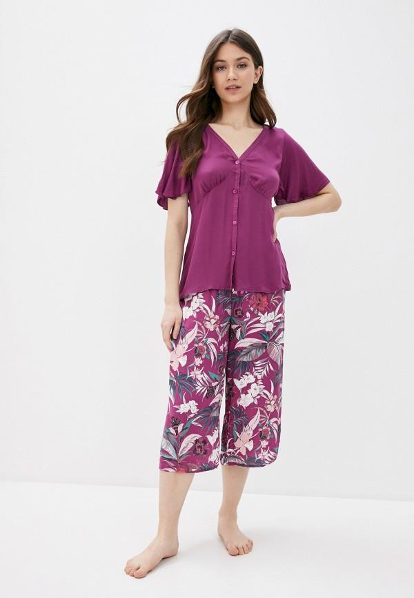 женская пижама women'secret, фиолетовая