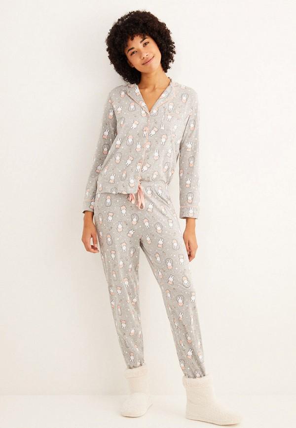 женская пижама women'secret, серая
