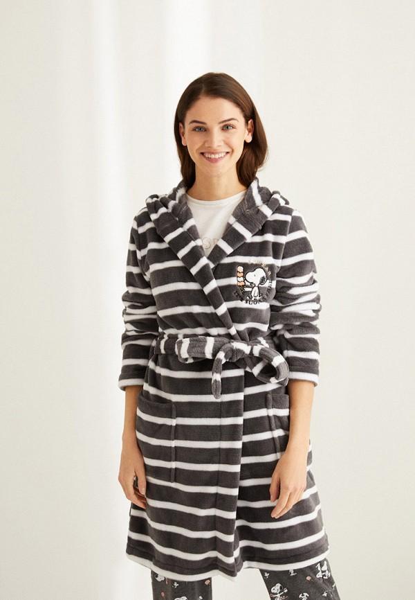 женский халат women'secret, черный