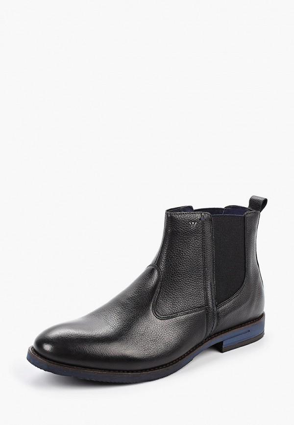 Фото 2 - Ботинки Wojas черного цвета