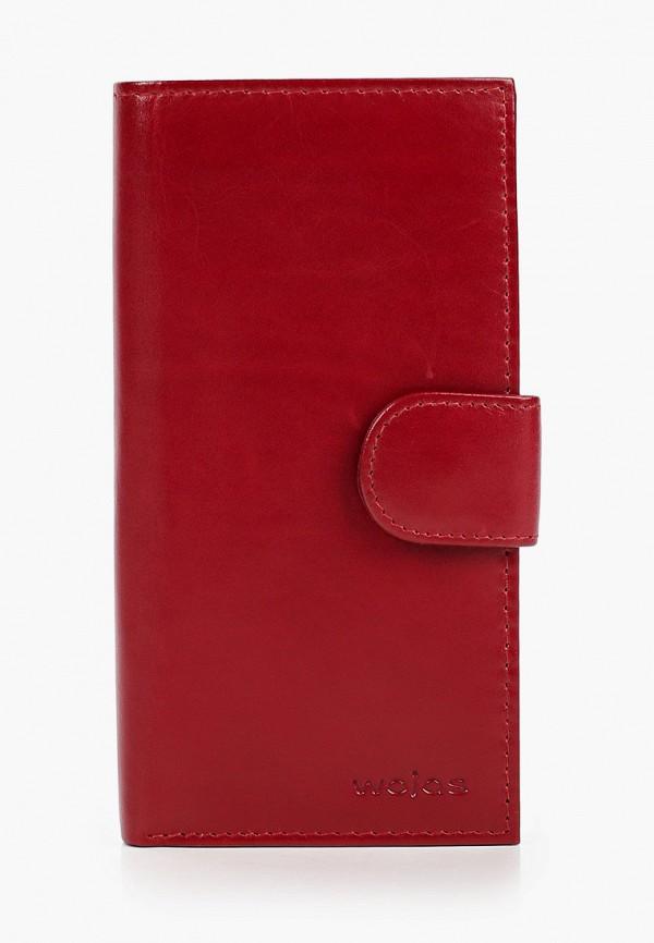 женский кошелёк wojas, красный