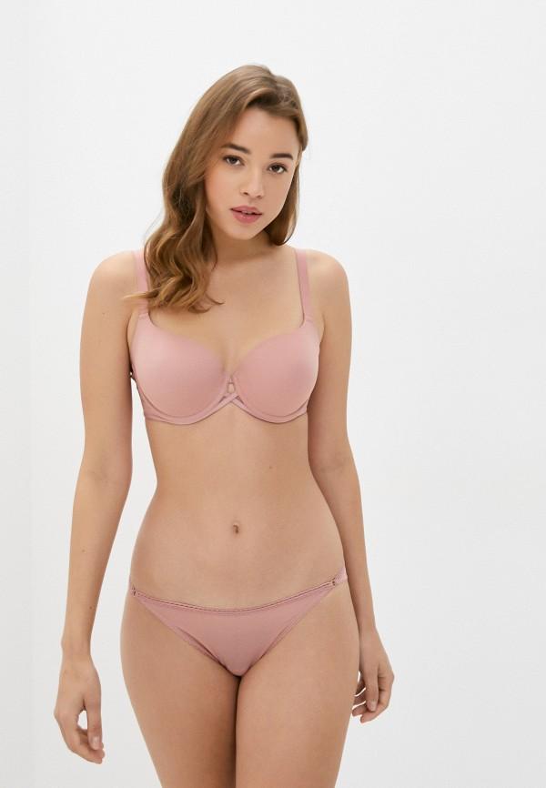 женский бюстгальтер на косточках wolford, розовый