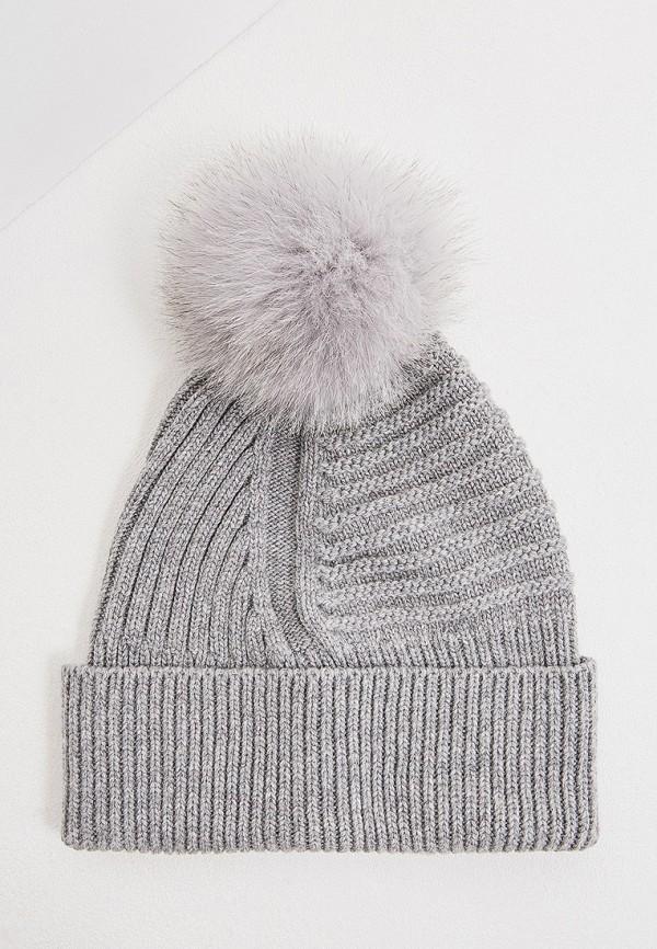 женская шапка woolrich, серая
