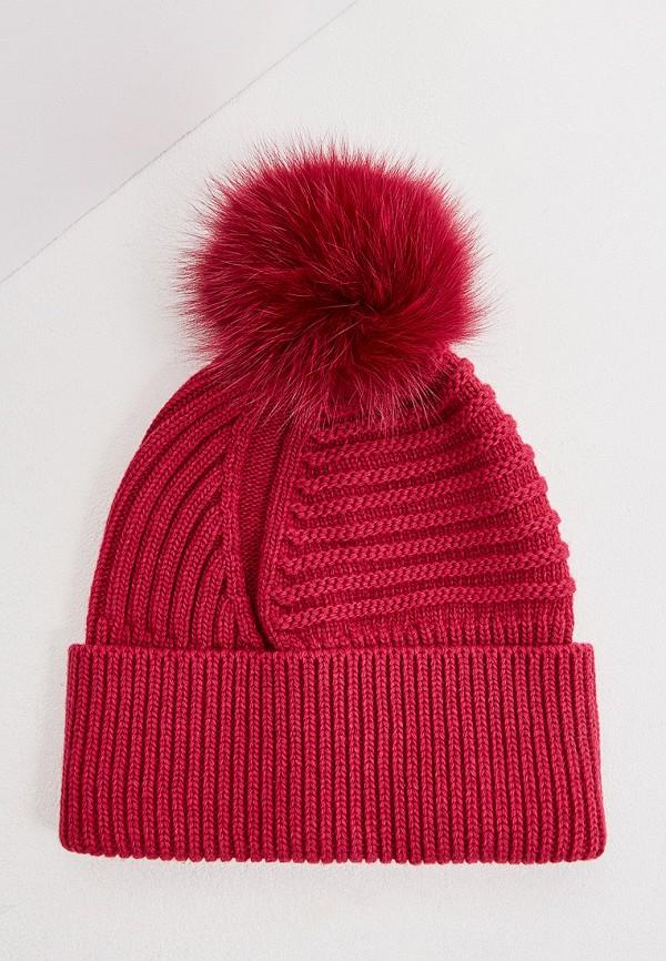 женская шапка woolrich, розовая