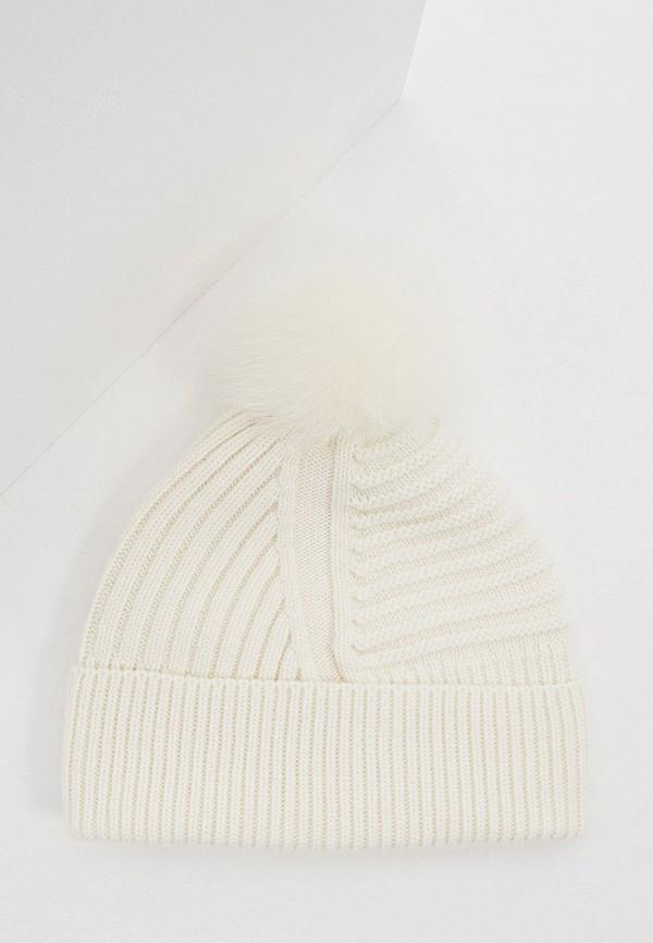 женская шапка woolrich, белая