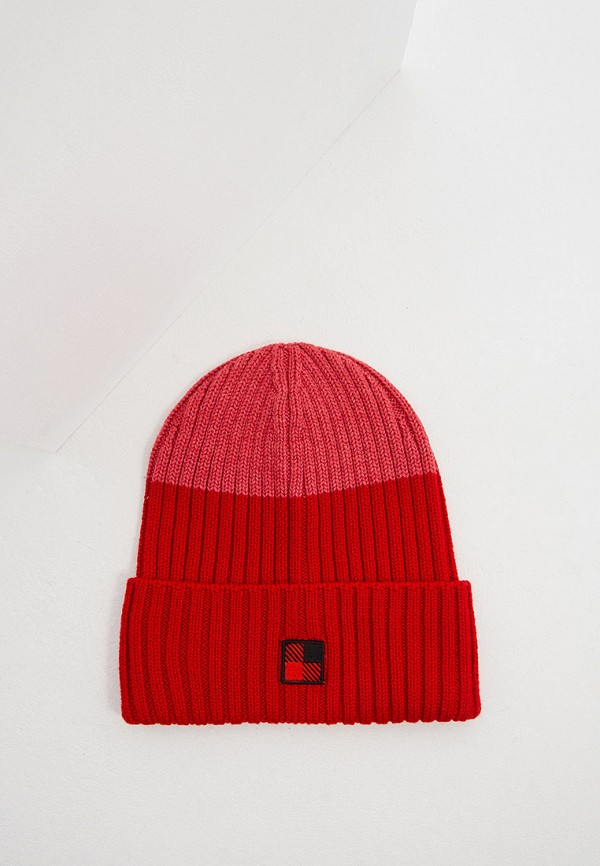 женская шапка woolrich, красная