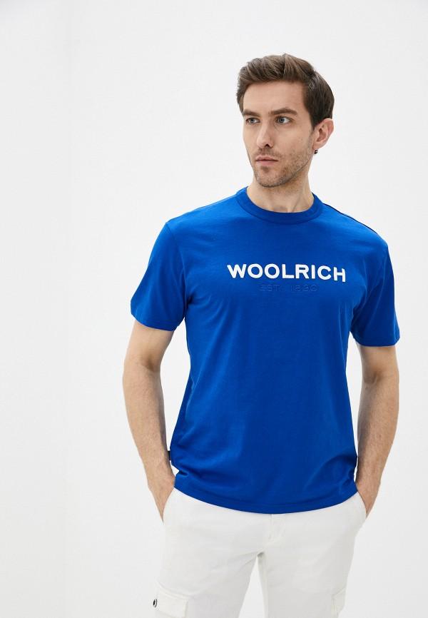 мужская футболка woolrich, синяя