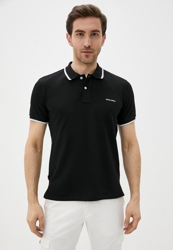мужское поло woolrich, черное