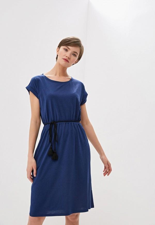 женское повседневные платье woolrich, синее
