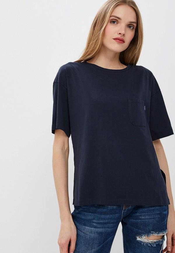 женская футболка woolrich, синяя