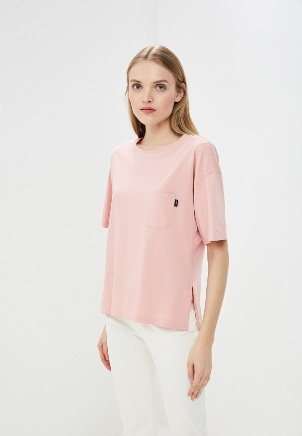женская футболка woolrich, розовая