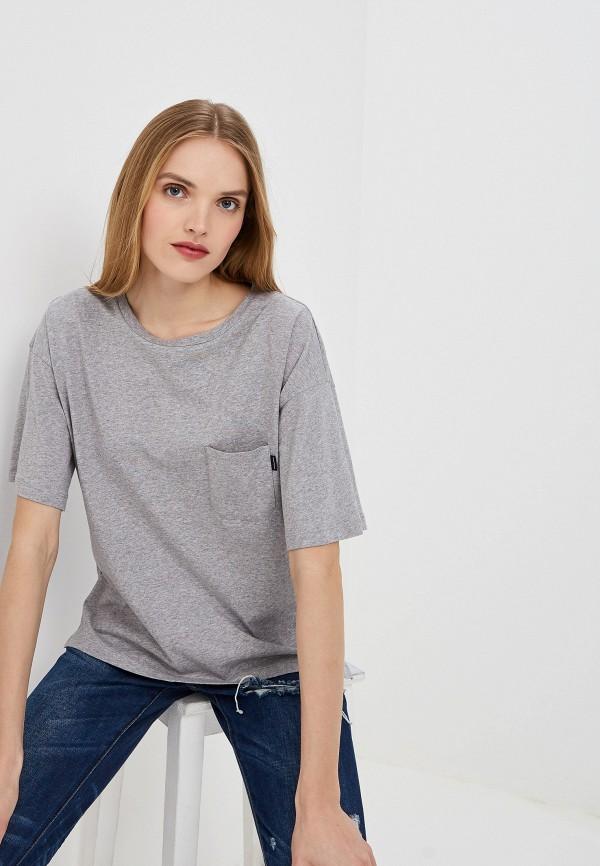 женская футболка woolrich, серая
