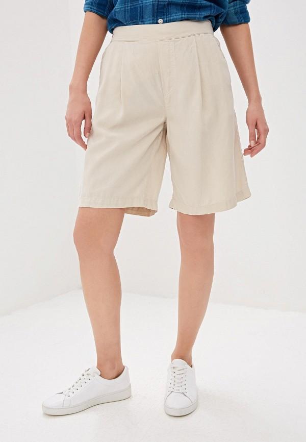 женские повседневные шорты woolrich, бежевые