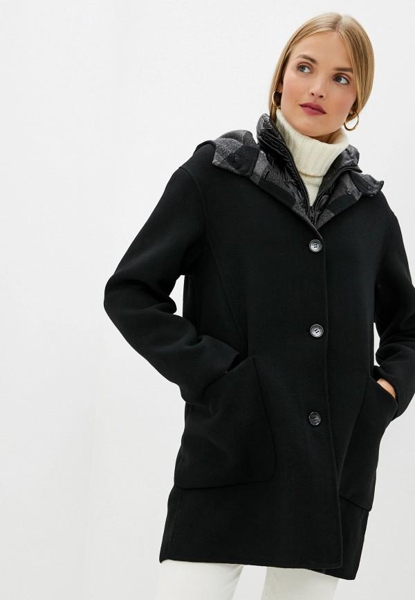 женское пальто woolrich, черное