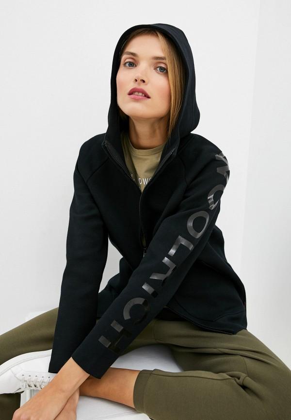 женская толстовка woolrich, черная
