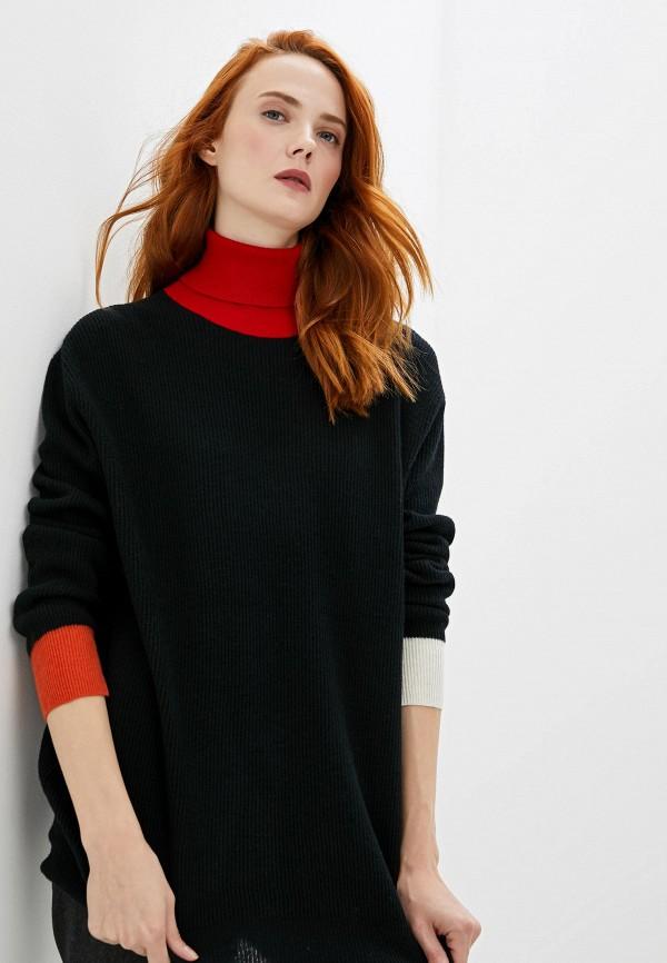 женская водолазка woolrich, черная