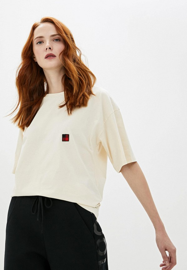 женская футболка woolrich, бежевая