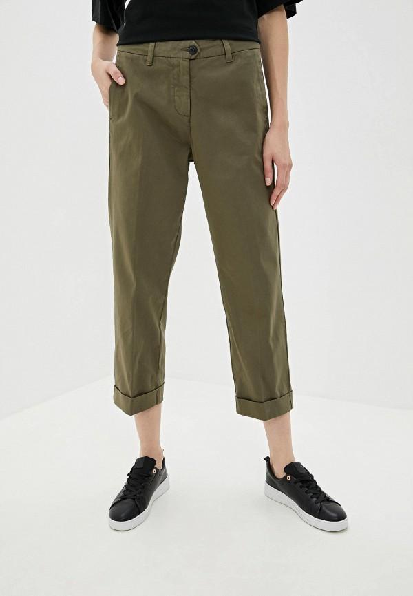 женские классические брюки woolrich, хаки