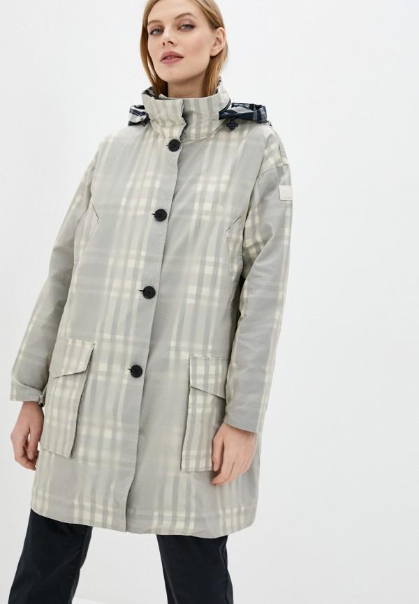 женская куртка woolrich, серая